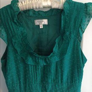 Moulinette Souers Emerald Polka Dot Dress